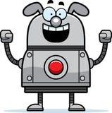 Celebrating Robot Dog Stock Images