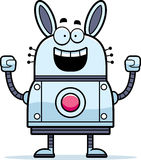 Celebrating Robot Rabbit Royalty Free Stock Images