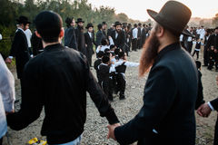 Celebrating Rosh Hashanah in Uman Stock Photos