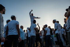 Celebrating Rosh Hashanah in Uman Stock Photography
