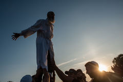 Celebrating Rosh Hashanah in Uman Stock Image