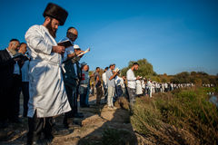 Celebrating Rosh Hashanah in Uman Stock Images