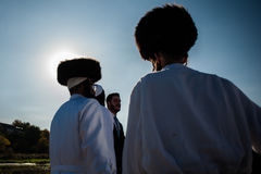 Celebrating Rosh Hashanah in Uman Royalty Free Stock Photo