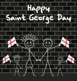 Celebrating Saint George day Stock Image