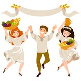 Celebrating Shavuot royalty free stock image