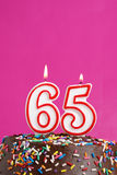 Celebrating Sixty Five Years Royalty Free Stock Image