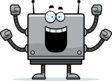 Celebrating Square Robot Stock Photography
