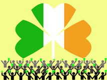 Celebrating St Patrick's day Stock Images