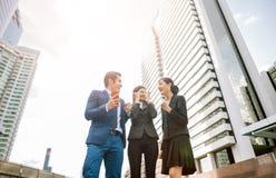 Celebrating success businessman stock image