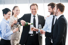 Celebrating success. Royalty Free Stock Image