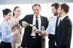 Celebrating success. Royalty Free Stock Image
