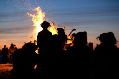 Celebrating the summer solstice stock photo