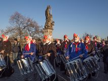 Celebrating 29th anniversary of the Velvet Revolution in Prague stock photography