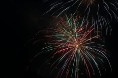 July 4th Fireworks Celebration in North Carolina. Celebrating the 4th of July with fireworks in North Carolina on a clear night Stock Image