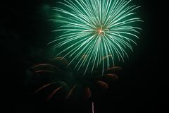 July 4th Fireworks Celebration in North Carolina. Celebrating the 4th of July with fireworks in North Carolina on a clear night Stock Photography
