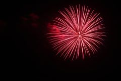 July 4th Fireworks Celebration in North Carolina. Celebrating the 4th of July with fireworks in North Carolina on a clear night Stock Photo