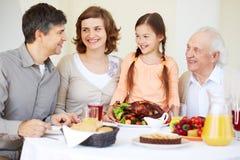 Celebrating Thanksgiving Day Stock Photo