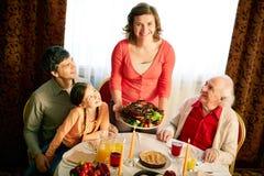 Celebrating Thanksgiving Stock Photo