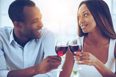 Celebrating their special date. Royalty Free Stock Photos