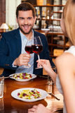 Celebrating their special date. Royalty Free Stock Image