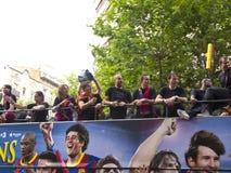 Celebrating the UEFA champions league Stock Photo