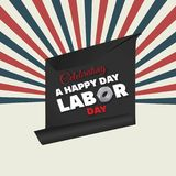 Celebrating USA  Labor Day, a national holiday. For web design and application interface, also useful for infographics. Vector illustration Royalty Free Stock Photo