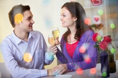 Celebrating Valentine day Stock Photography