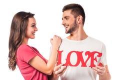 Celebrating Valentine's Day royalty free stock image