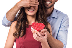 Celebrating Valentine's Day royalty free stock photo
