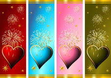 Celebrating Valentines. Day with some fire works Royalty Free Stock Photo