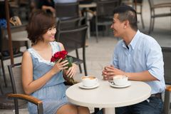 Celebrating Valentines day Royalty Free Stock Images