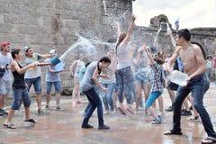 Celebrating Vardavar in Armenia Stock Image