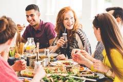 Celebrating Vegan Party At Home Stock Image
