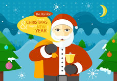 Celebrating Winter Holidays Flat Vector Concept Royalty Free Stock Image