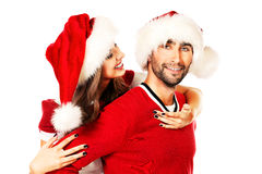 Celebrating xmas Royalty Free Stock Photo