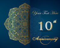Celebrating 10 Years Anniversary Invitation. This is an illustration of invitation template Stock Image