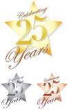 Celebrating 25 Years/eps Royalty Free Stock Image