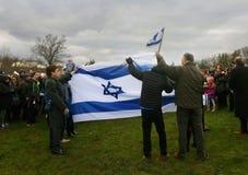 CelebratingThe zeventigste Verjaardag van Israël jpg Royalty-vrije Stock Fotografie