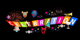 Celebration. Adobe illustrator file is available Stock Photos