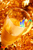Celebration. Drink with serpentine for celebration royalty free stock photos