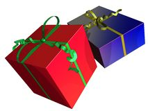 Celebration. 3D representation of several wrapped gifts Stock Images
