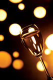 Celebration. A champagne glass in the dark Royalty Free Stock Photography