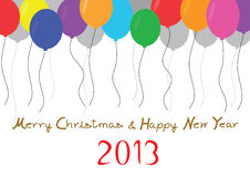 Celebration. Merry Christmas and Happy new year 2013 Stock Photo
