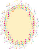 Artistic star and circle border Stock Photo