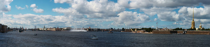 Celebration. Navy celebration is in Sankt Petersburg Royalty Free Stock Photos