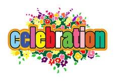 Celebration design. A colorful illustration of the text 'celebration Stock Photos