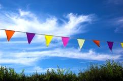 Celebration. Summer bunting Royalty Free Stock Photos