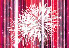 Celebration Abstract Background. Digital collage celebration concept abstract background with white fireworks and sparks and vertical lines pattern at background Royalty Free Stock Photos