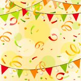 Celebration abstract background. Holiday template. With confetti Royalty Free Stock Photography
