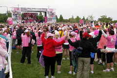 Celebration at Avon Walk for Breast Cancer Stock Photos
